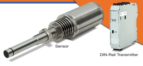 In line mass flow measurement sensor